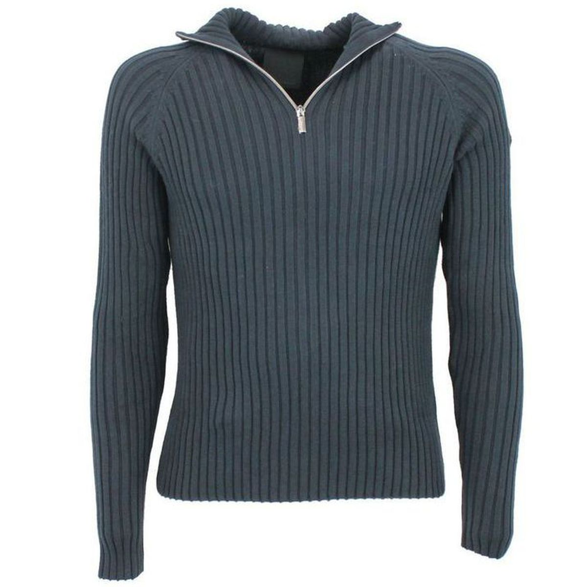 Maglione con collo a zip Blu RRD