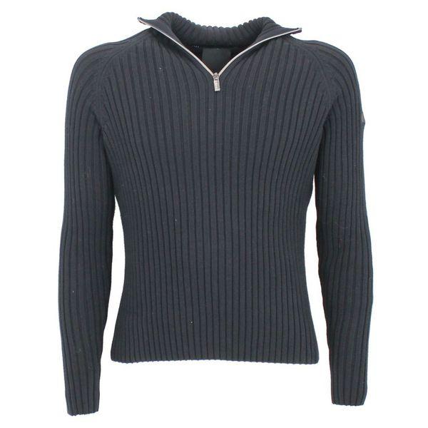 Maglione con collo a zip Nero RRD
