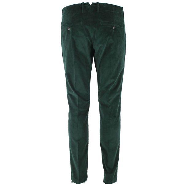 Pantalone in velluto verde Verde Paolo Pecora Milano