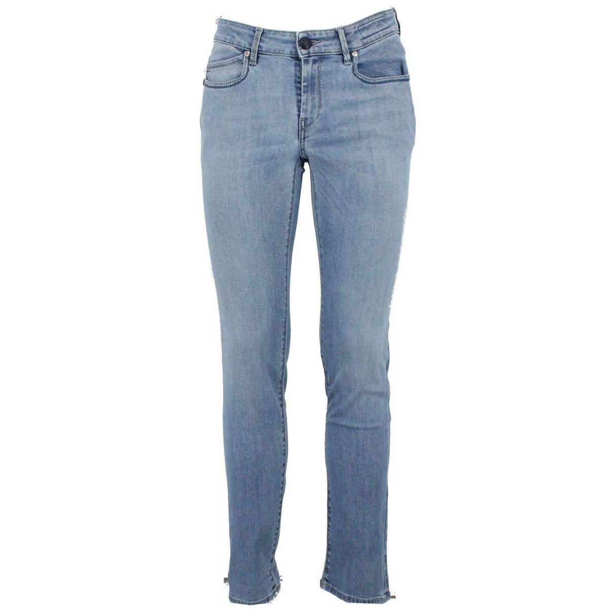Jeans con logo in verde Blue Re-Hash