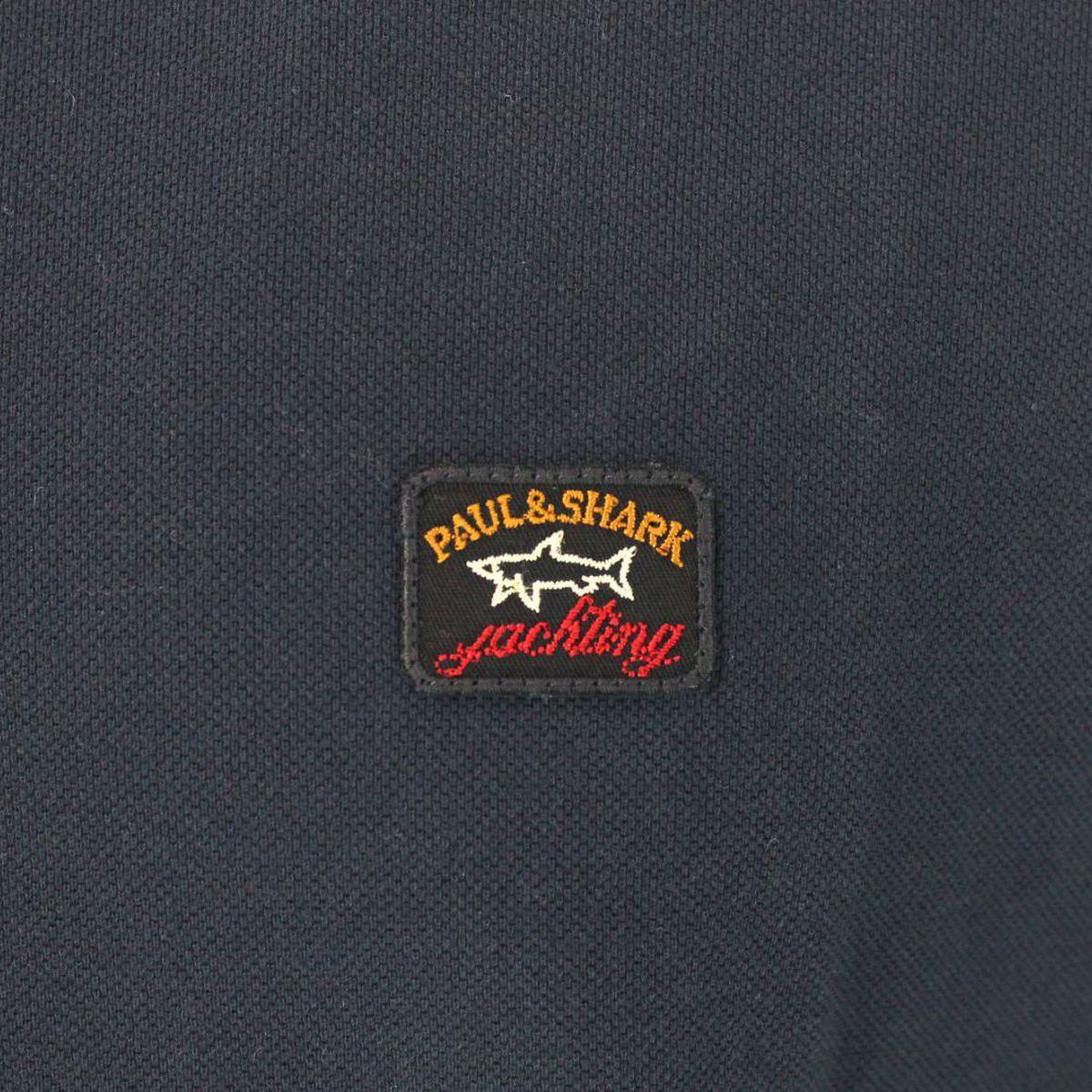 Polo a maniche lunghe con logo Blue PAUL & SHARK