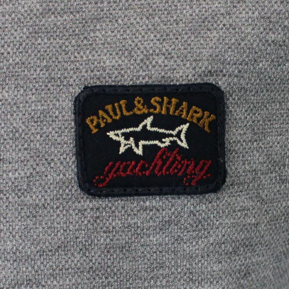 Polo a maniche lunghe con logo Grigio PAUL & SHARK
