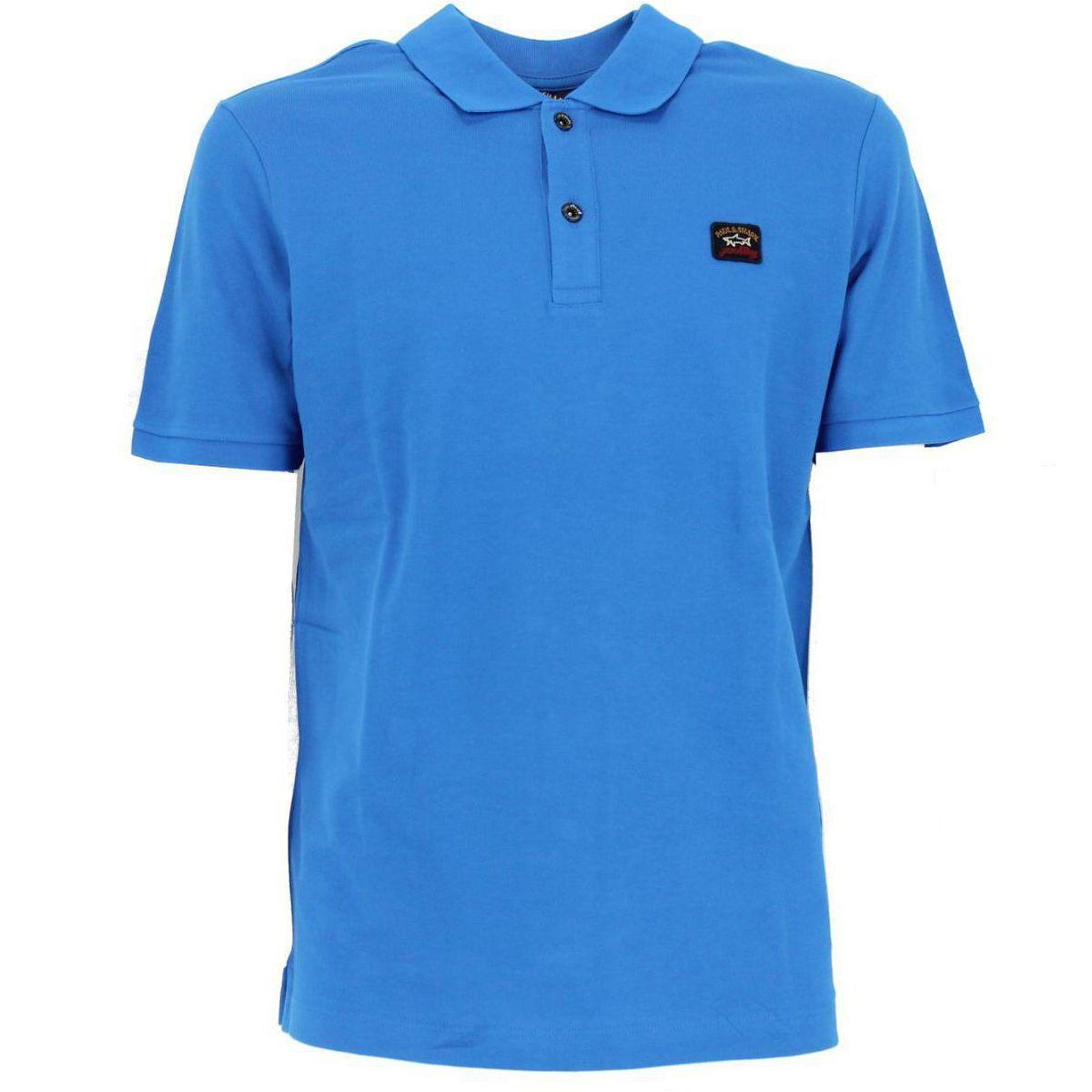 Polo in cotone con logo Azzurro PAUL & SHARK