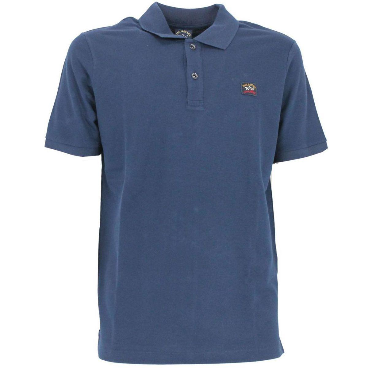 Polo in cotone con logo Blue PAUL & SHARK