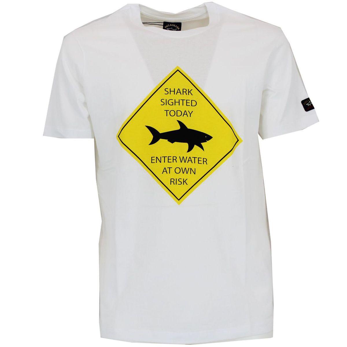 T-shirt con stampa Bianco PAUL & SHARK