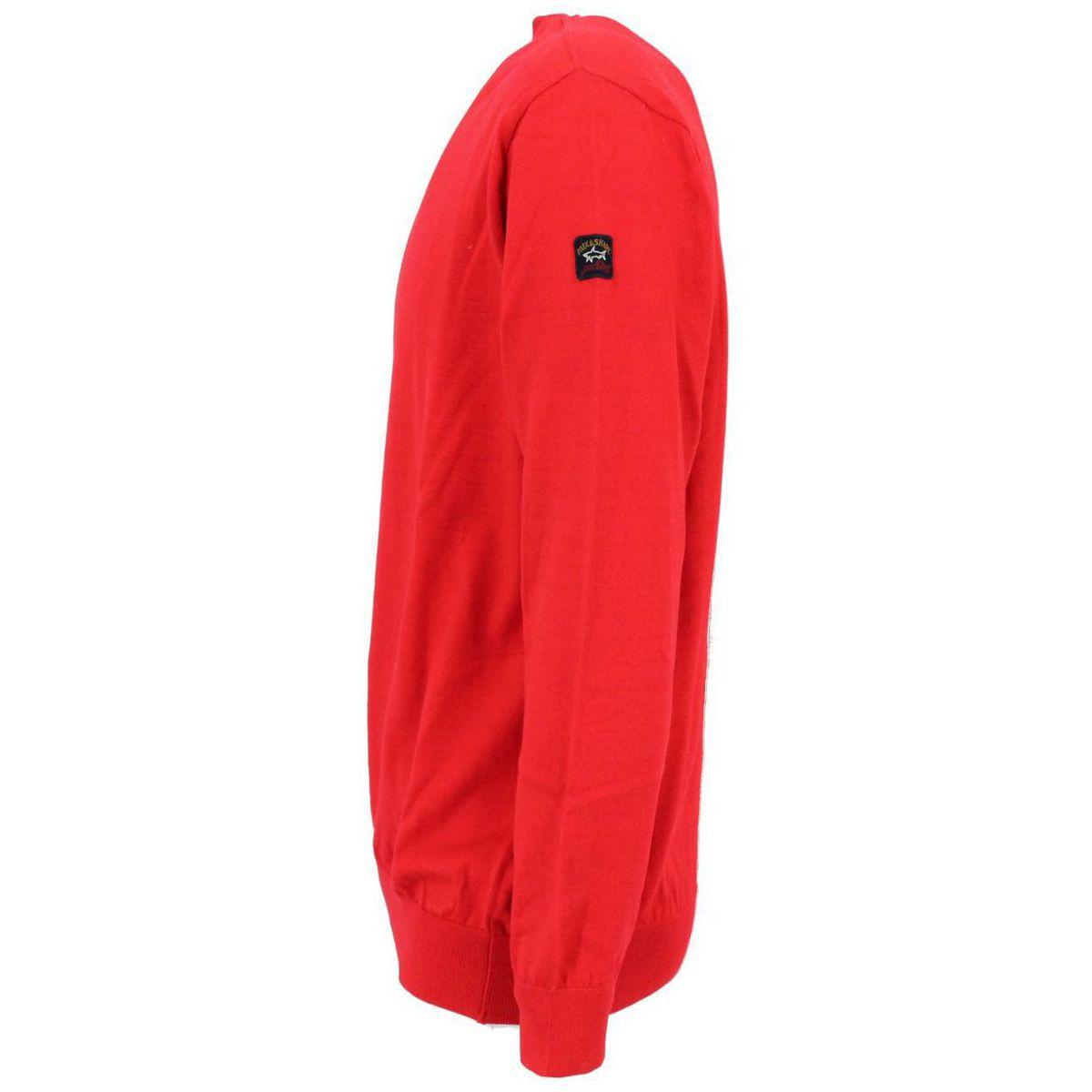 Maglia girocollo in cotone Rosso PAUL & SHARK