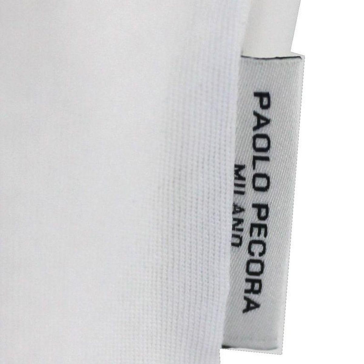 T-shirt basic maniche corte Bianco Paolo Pecora Milano