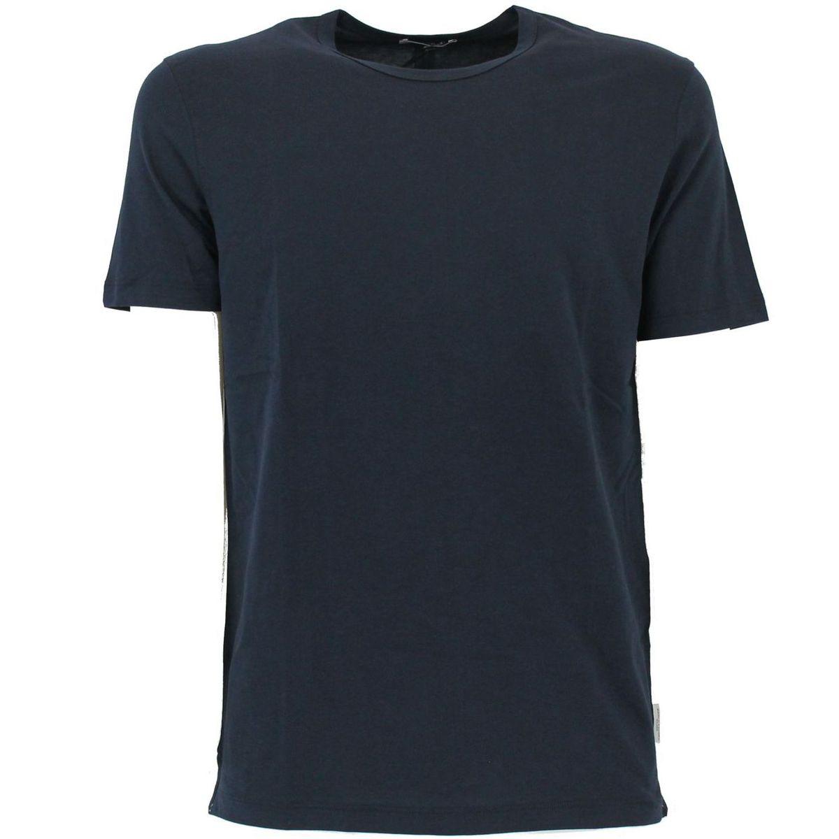 T-shirt basic maniche corte Blue Paolo Pecora Milano