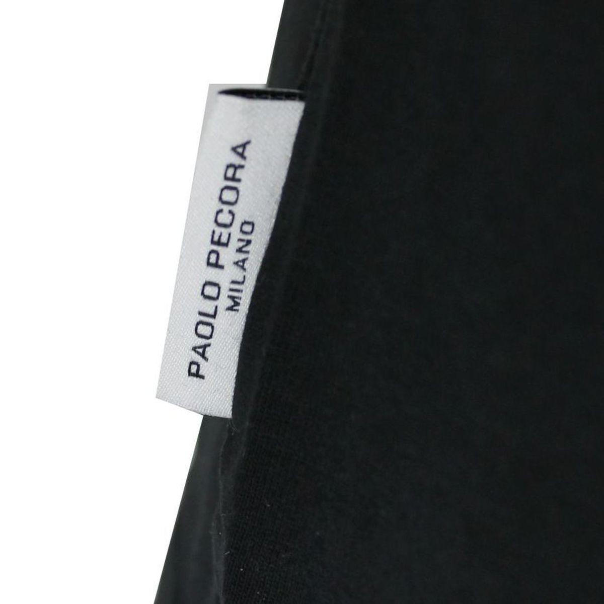 T-shirt basic maniche corte Nero Paolo Pecora Milano