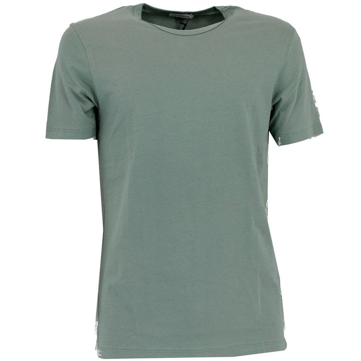 T-shirt basic maniche corte Verde Paolo Pecora Milano