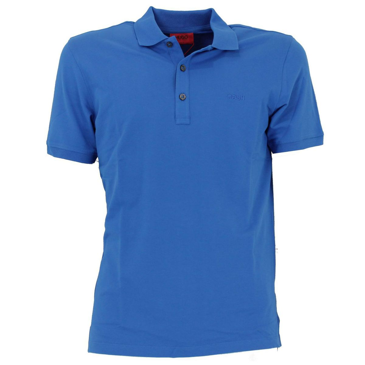 Polo slim fit basic Azzurro Hugo