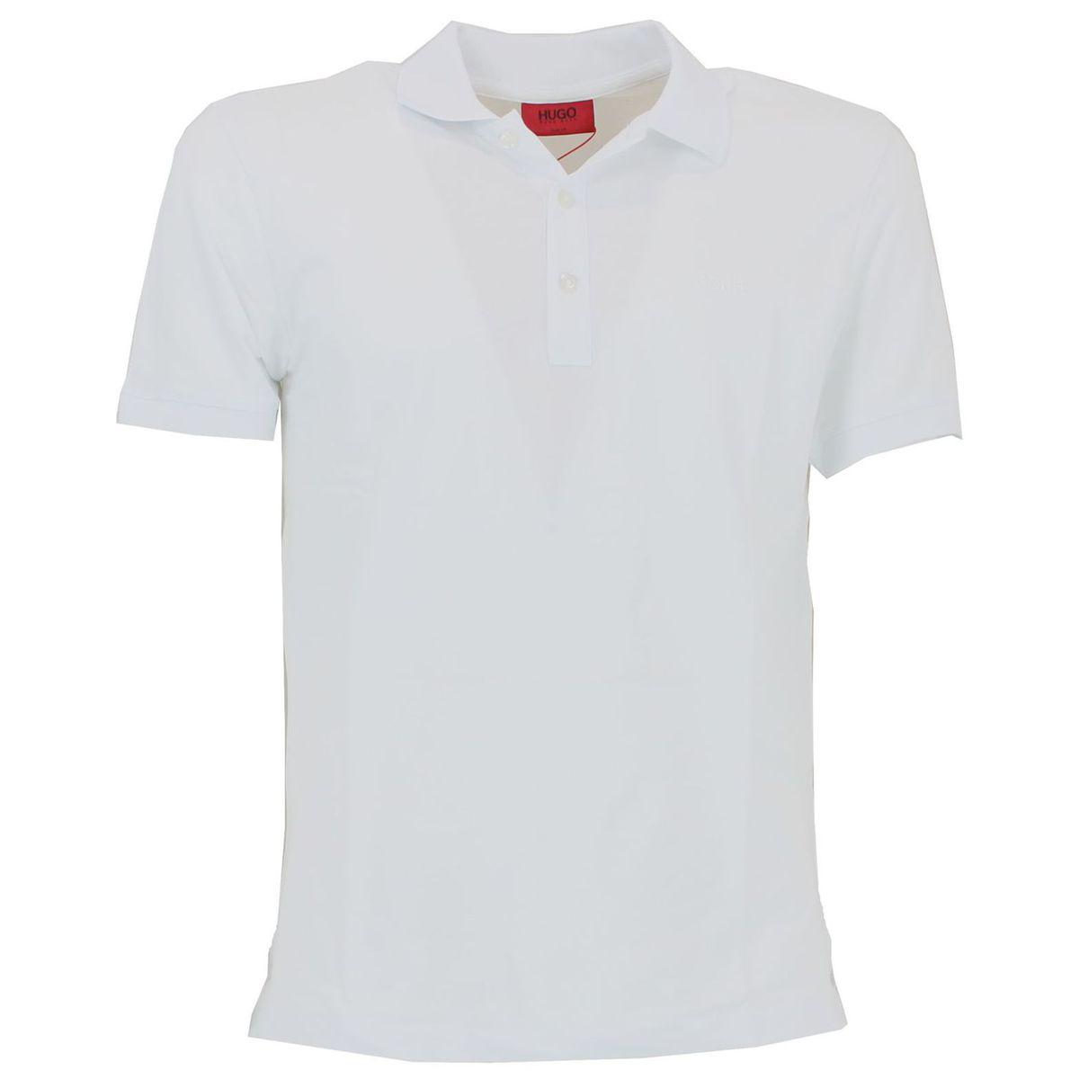 Polo slim fit basic Bianco Hugo