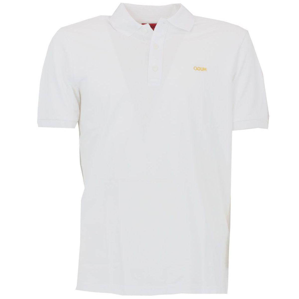 Polo in piquet di cotone Bianco Hugo