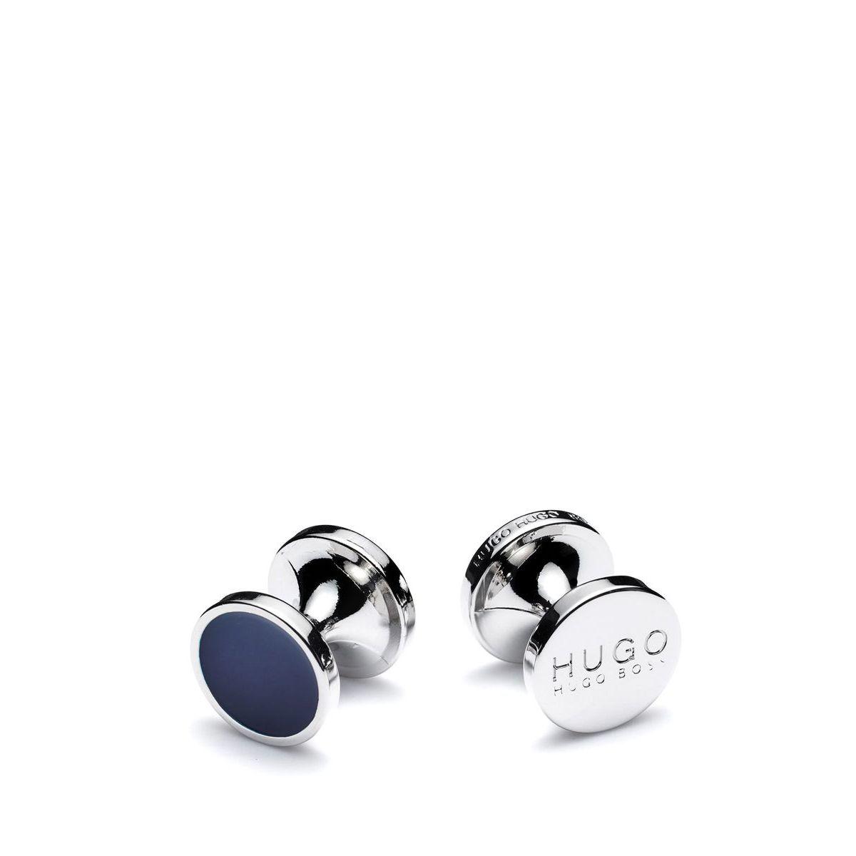 Gemelli rotondi con chiusura fissa Blue Hugo