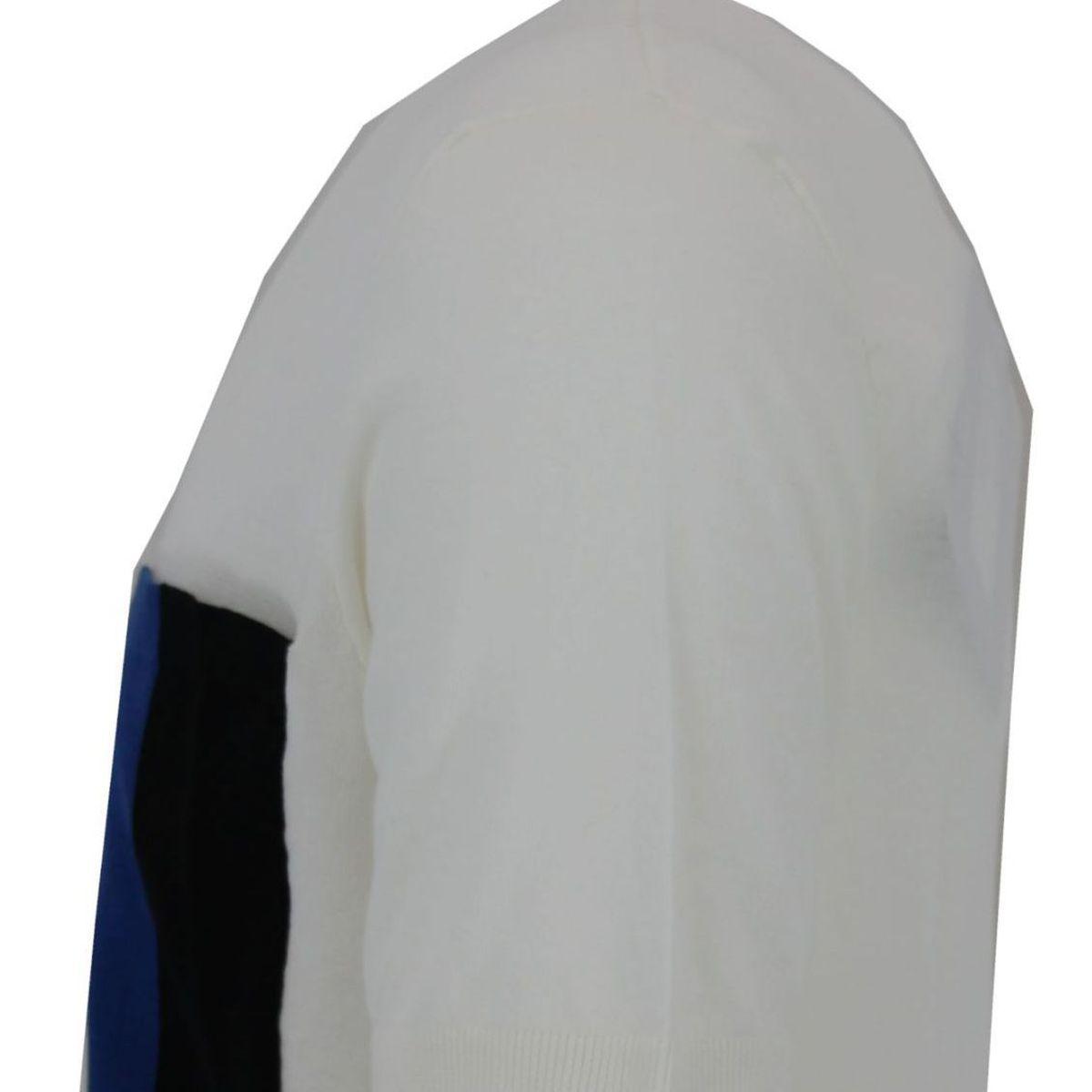 T-Shirt maniche corte con taschino applicato bicolore Bianco Paolo Pecora Milano