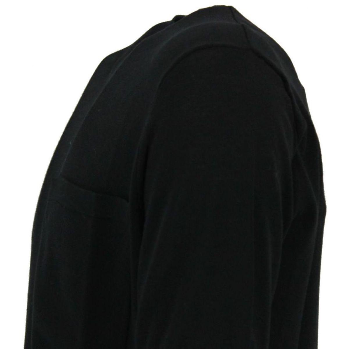 T-Shirt maniche corte con taschino applicato bicolore Nero Paolo Pecora Milano