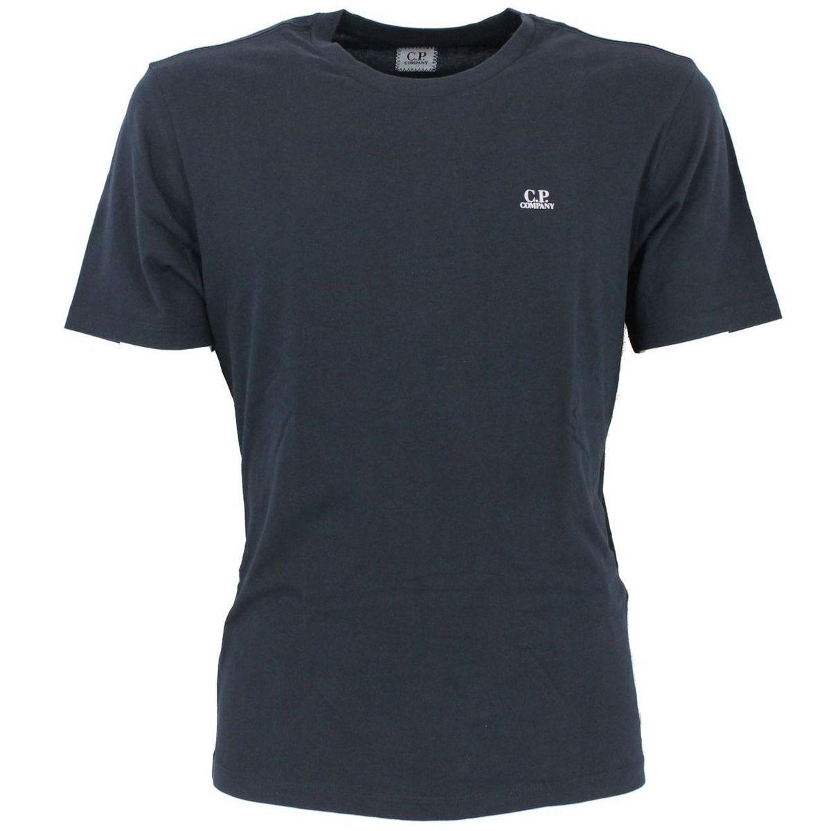 T-Shirt con logo Blue C.P. Company