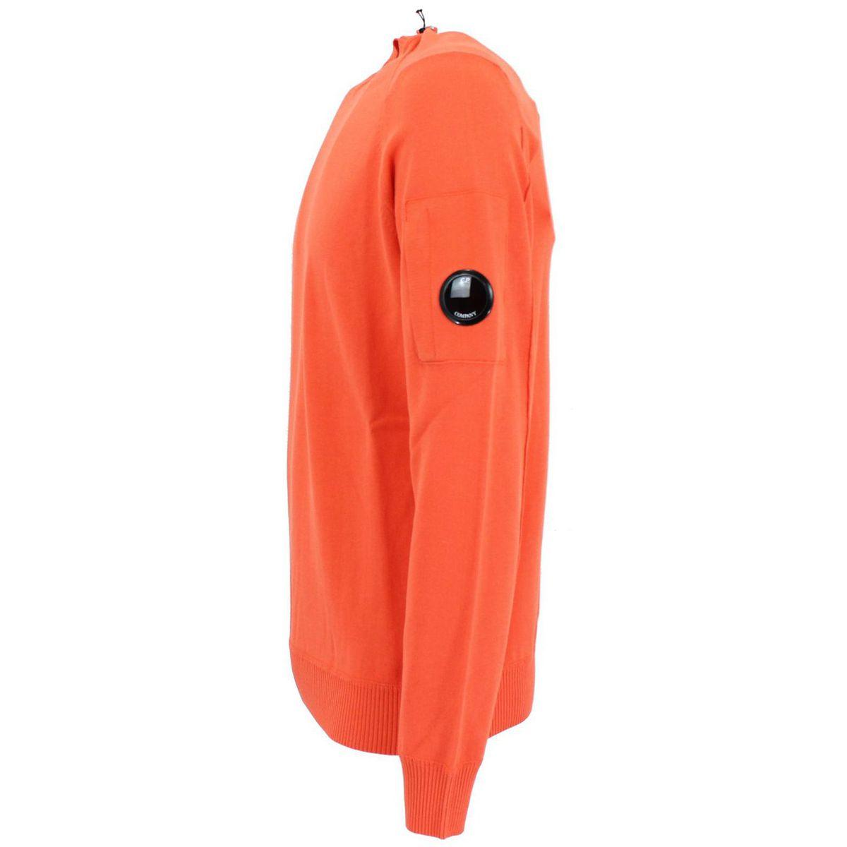 Maglia in cotone con taschino laterale Arancione C.P. Company