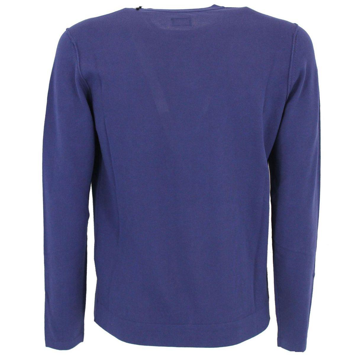 Maglia girocollo con logo Azzurro C.P. Company