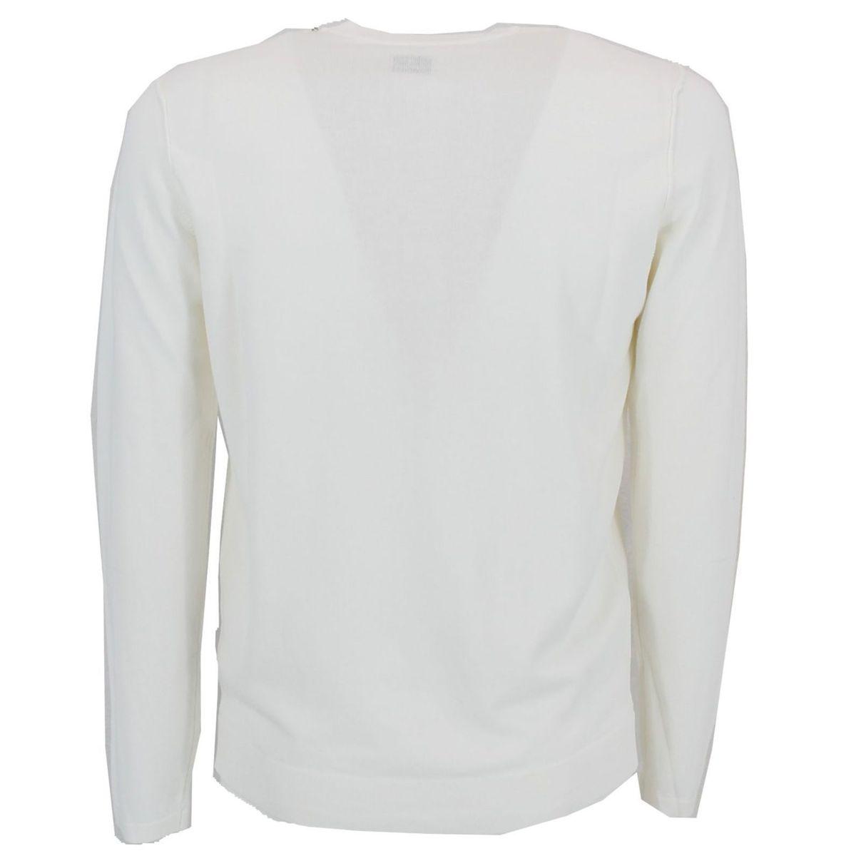 Maglia girocollo con logo Bianco C.P. Company