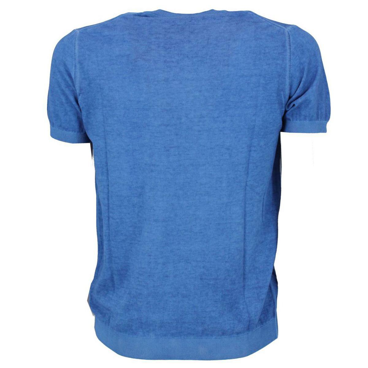 Maglia girocollo a maniche corte Azzurro Seventy