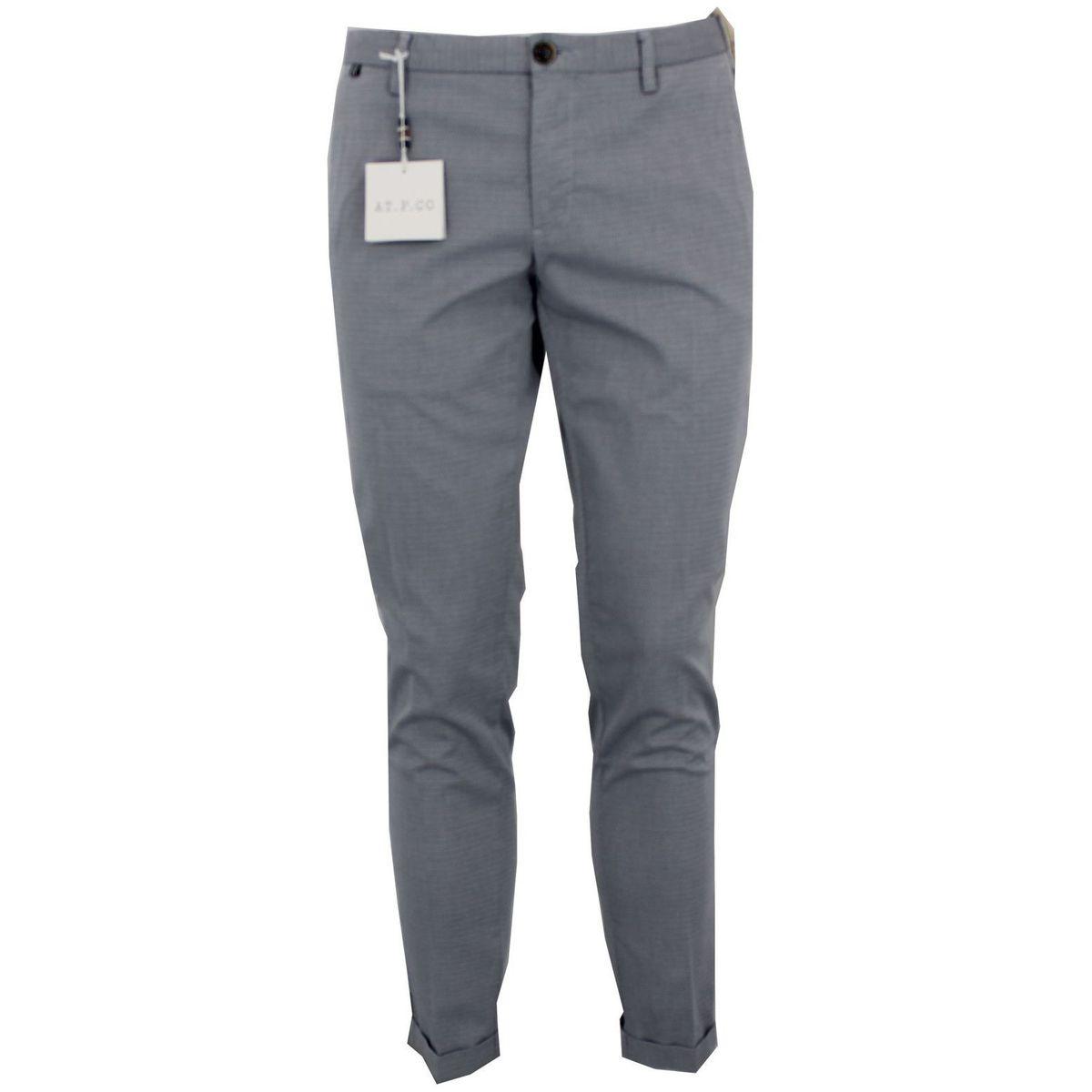 Pantalone in cotone grigio Blue At.p.co