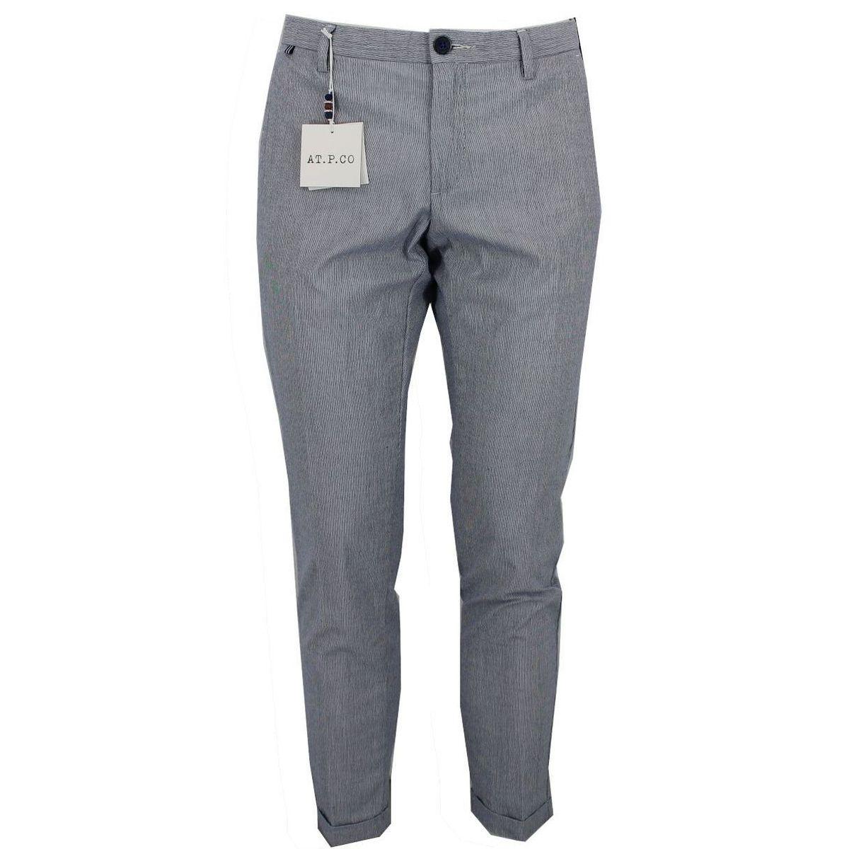 Pantalone in cotone Celeste At.p.co