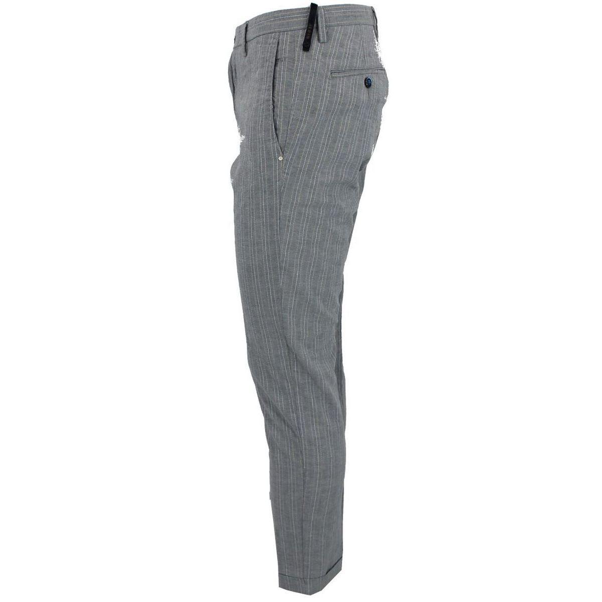 Pantalone in cotone rigato Grigio At.p.co