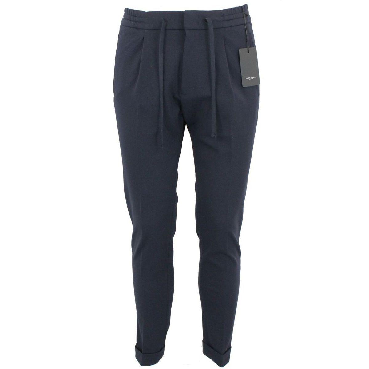 Pantalone in tessuto Blue Paolo Pecora Milano
