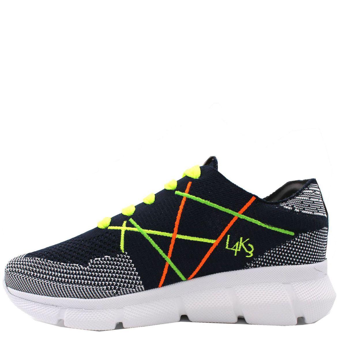 1. Sneakers allacciata con suola in gomma leggerissima color fluo L4K3 Fluo L4k3