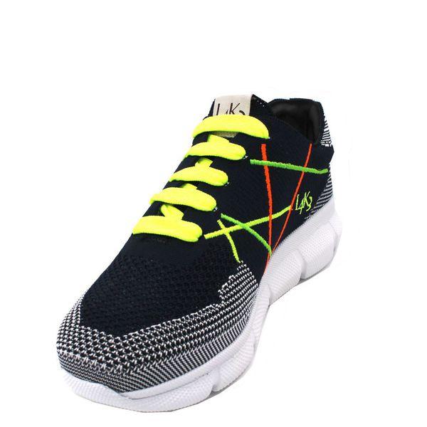 4. Sneakers allacciata con suola in gomma leggerissima color fluo L4K3 Fluo L4k3