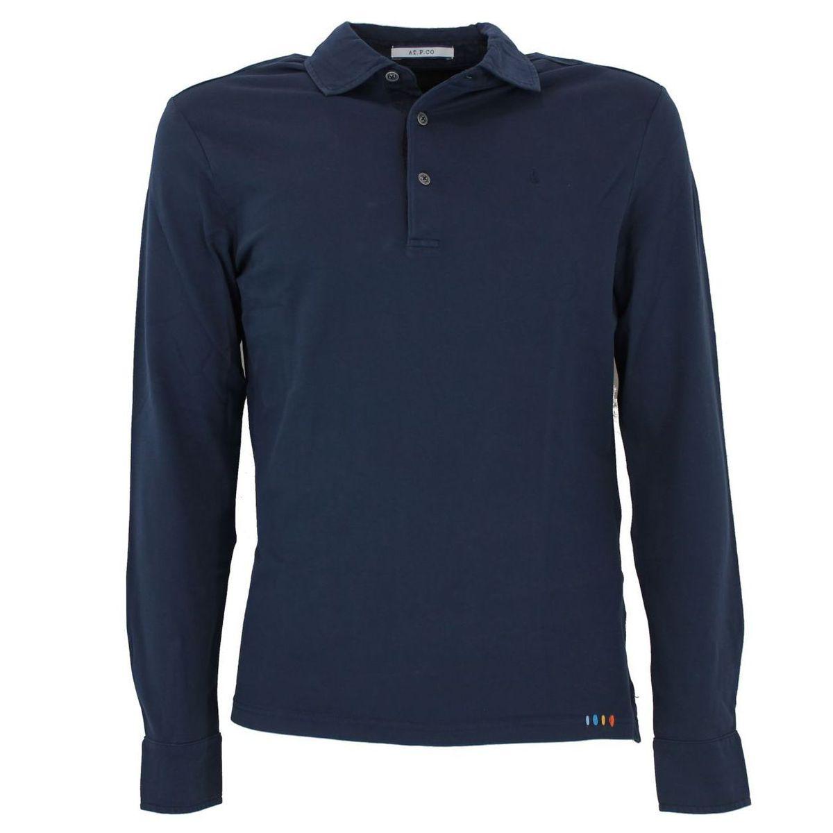 Polo slim fit di cotone Blue At.p.co