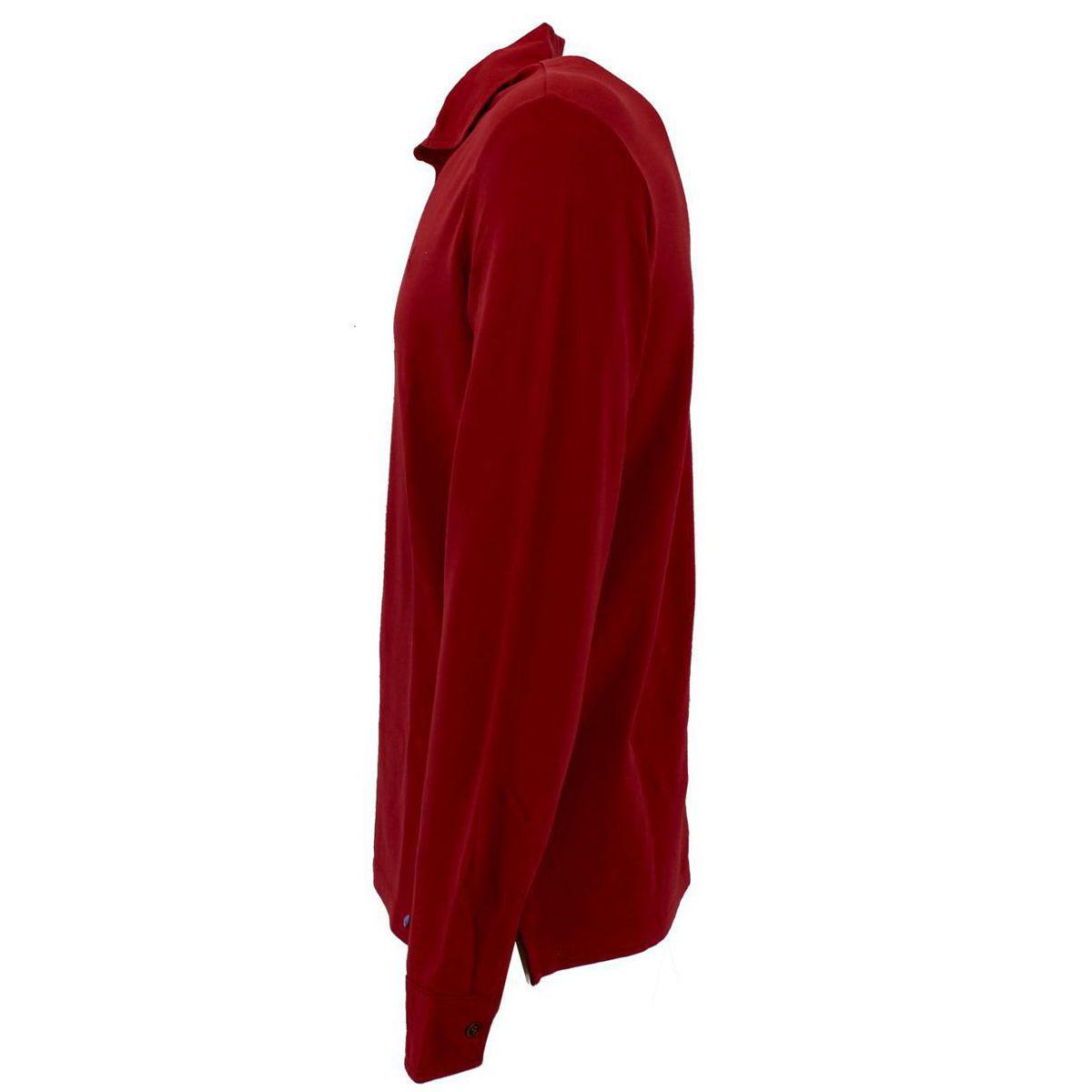 Polo slim fit di cotone Rosso At.p.co