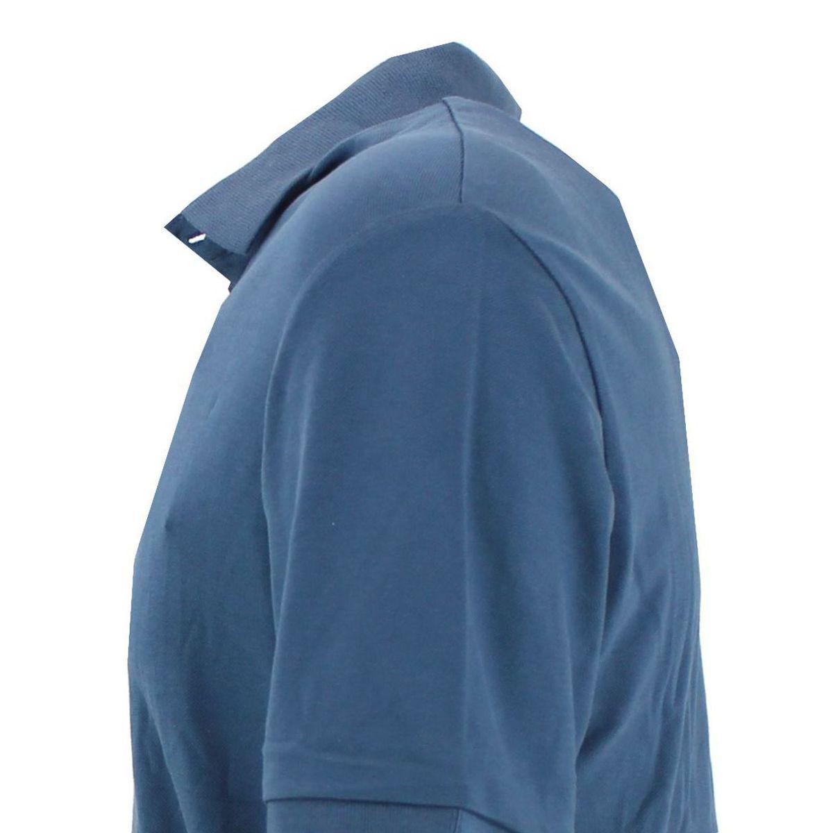 Polo di cotone vestibilità slim fit Azzurro At.p.co