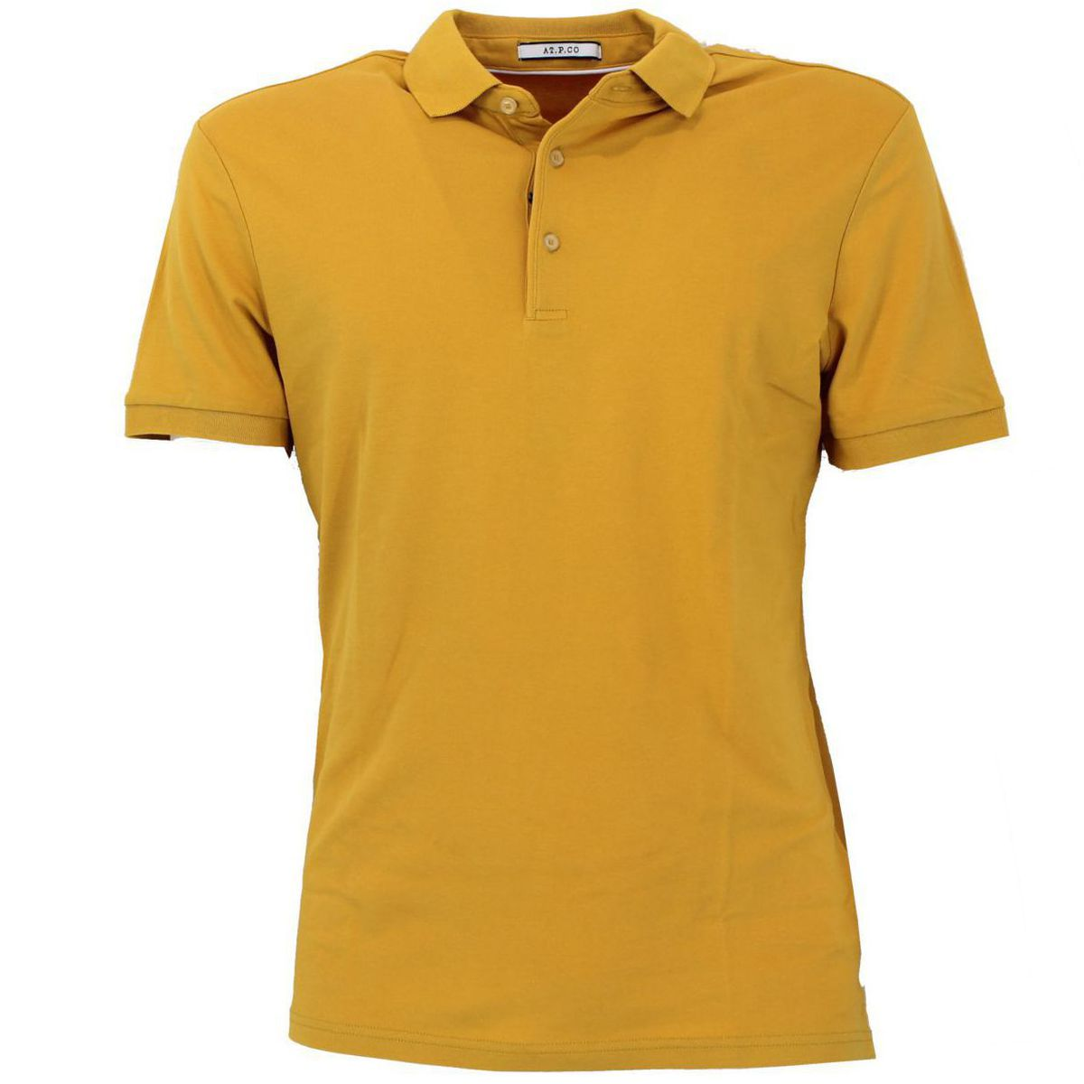 Polo di cotone vestibilità slim fit Giallo At.p.co