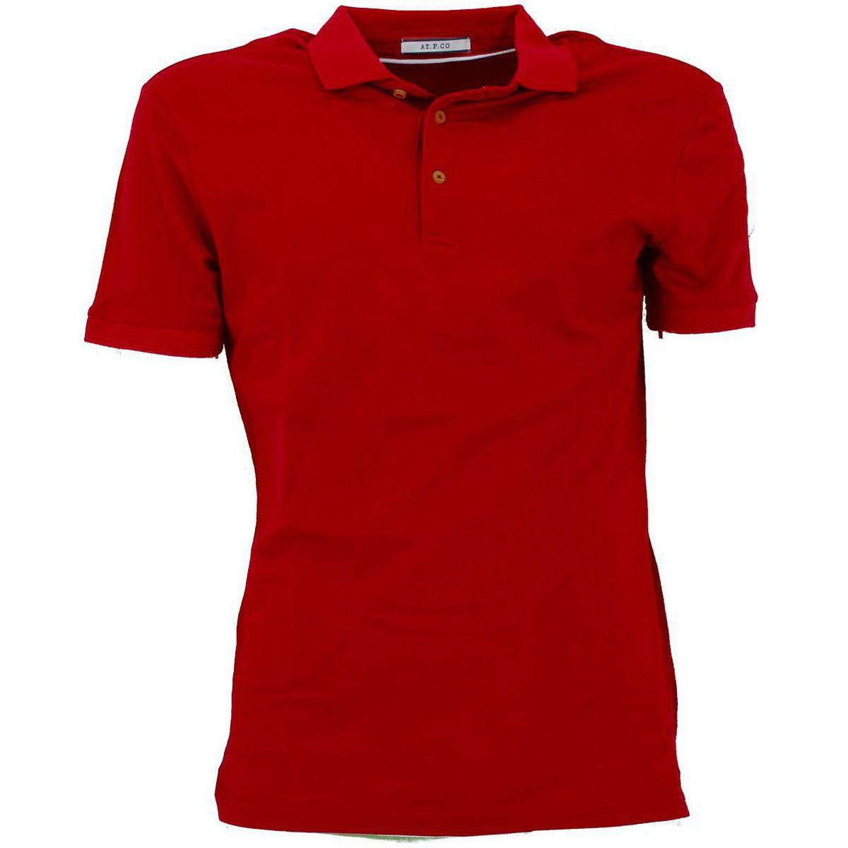 Polo di cotone vestibilità slim fit Rosso At.p.co