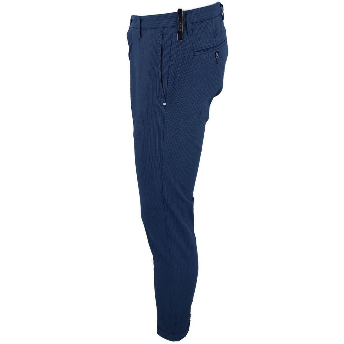 Pantalone in cotone con logo Blue At.p.co