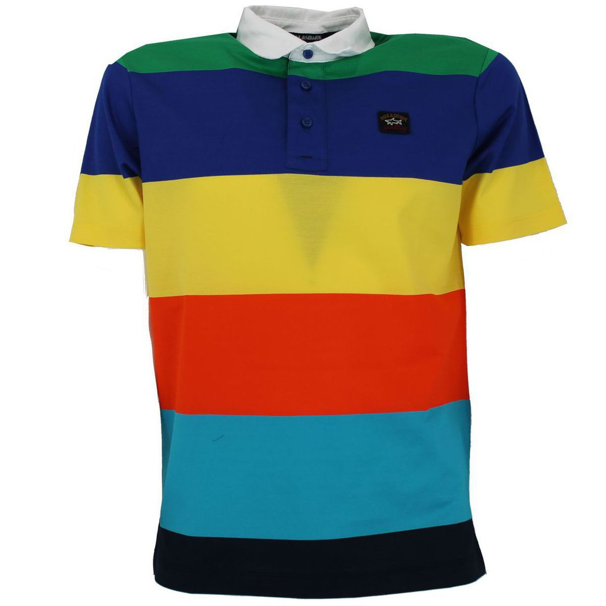 Polo a maniche corte a righe Multicolor PAUL & SHARK