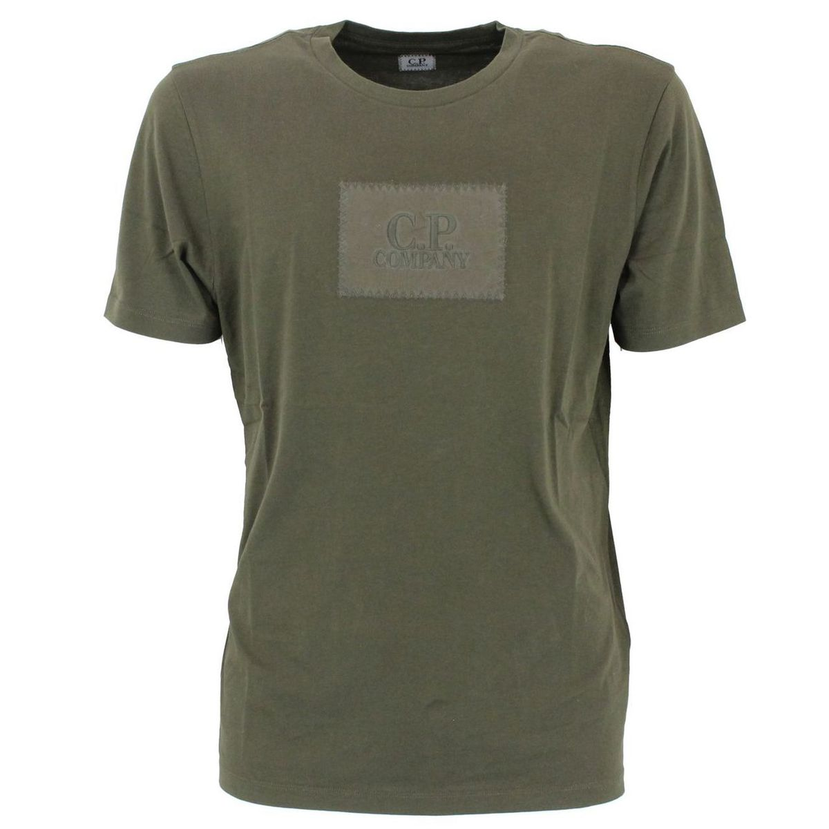 T-shirt a maniche corte in sottile cotone Verde C.P. Company