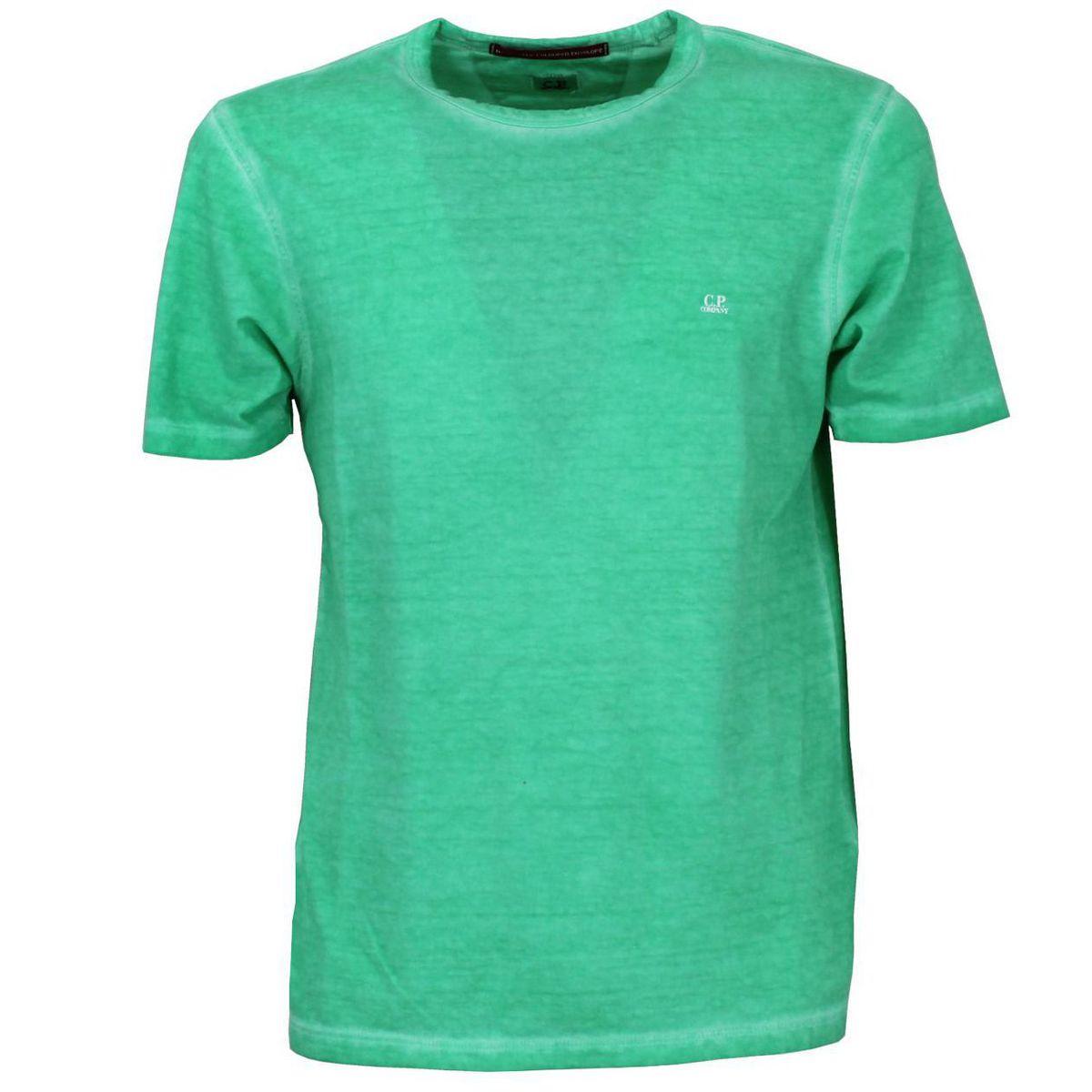 T-shirt girocollo in cotone Verde C.P. Company