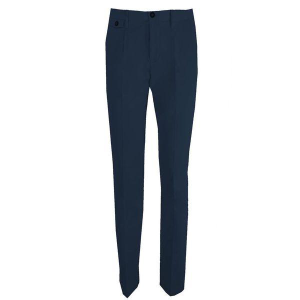 Pantalone in gabardina Blue Paolo Pecora Milano