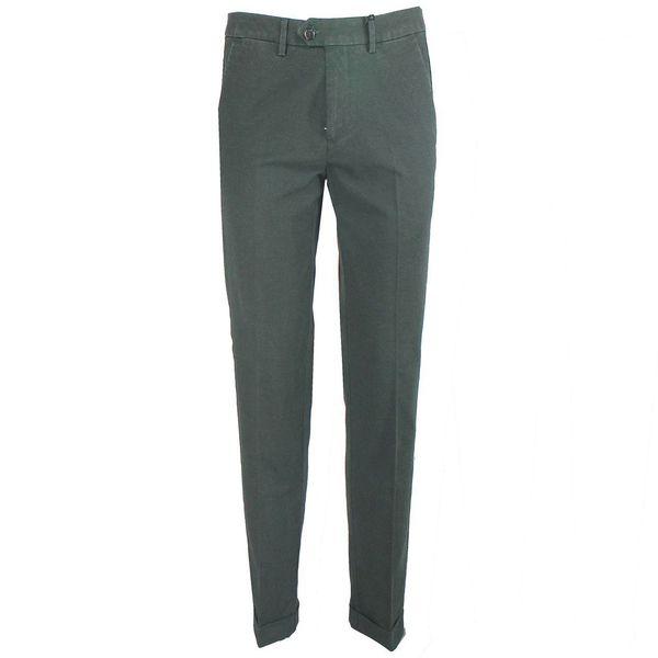 Pantalone in cotone dallo stile denim Verde Seventy
