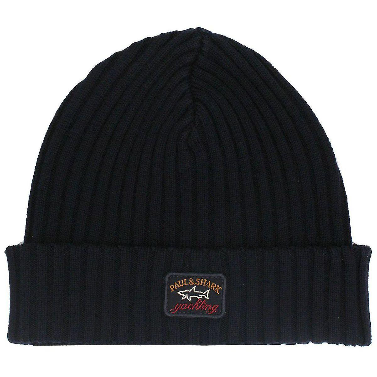 Cappello di lana a coste Blue PAUL & SHARK