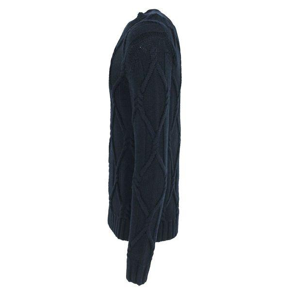 2. Maglione girocollo in pura lana vergine Blue Paolo Pecora Milano