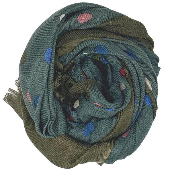 2. Sciarpa in lana morbida At.p.co Verde At.p.co